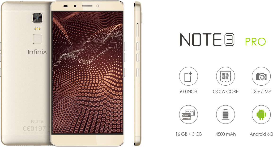 Infinix Note 3 Key Specs & Features