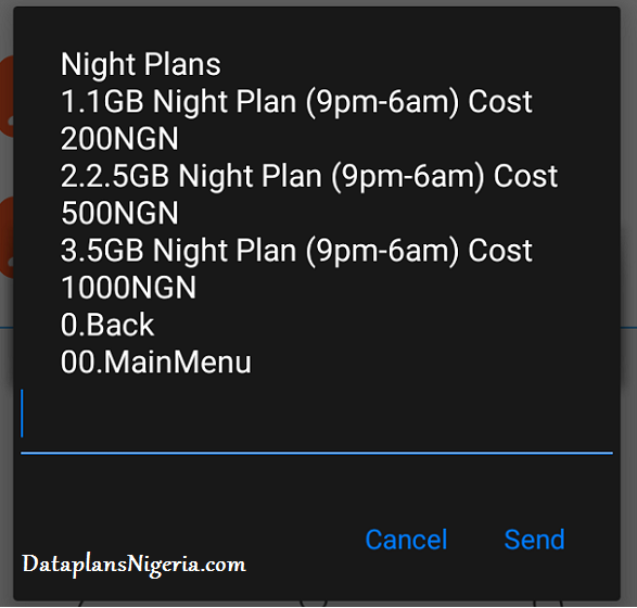 MTN Night data plan