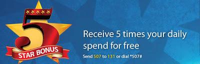 MTN 5 star bonus
