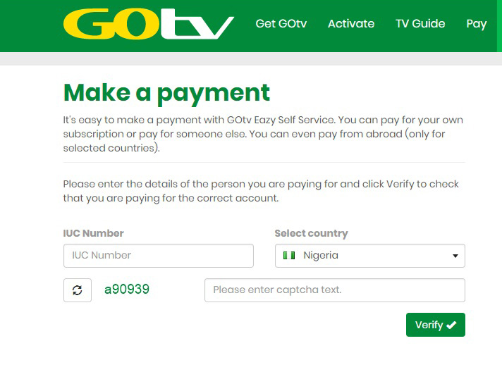 How to Pay For Gotv Online
