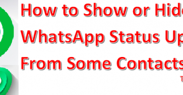 Show or Hide Your WhatsApp Status From Some Contacts