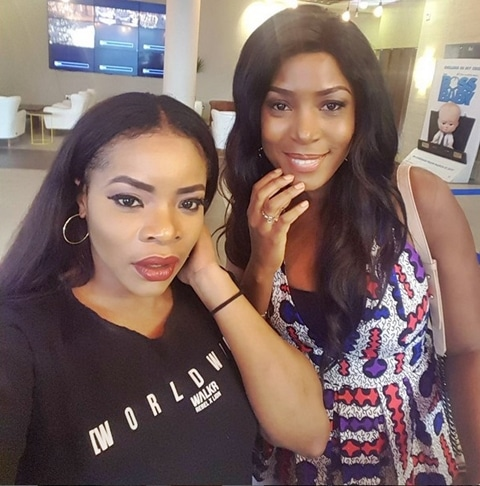 Linda Ikeji and Laura Ikeji Nwankwo
