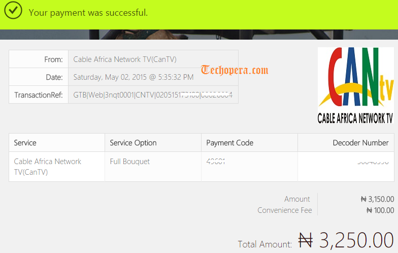 cantv payment online