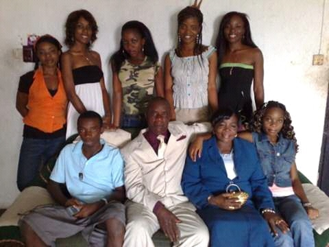 throwback photo of Linda Ikeji Family