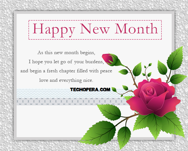 best happy new month messages