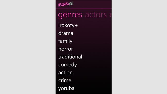 iroko tv genres