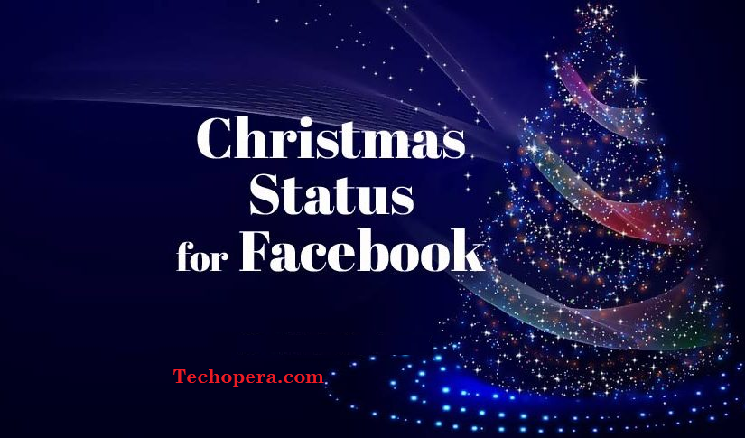 merry christmas status for facebook