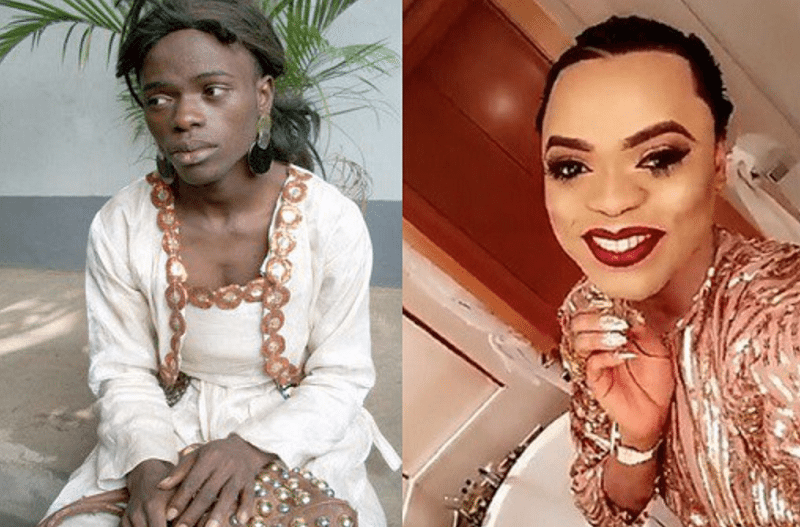 Bobrisky before and after photo