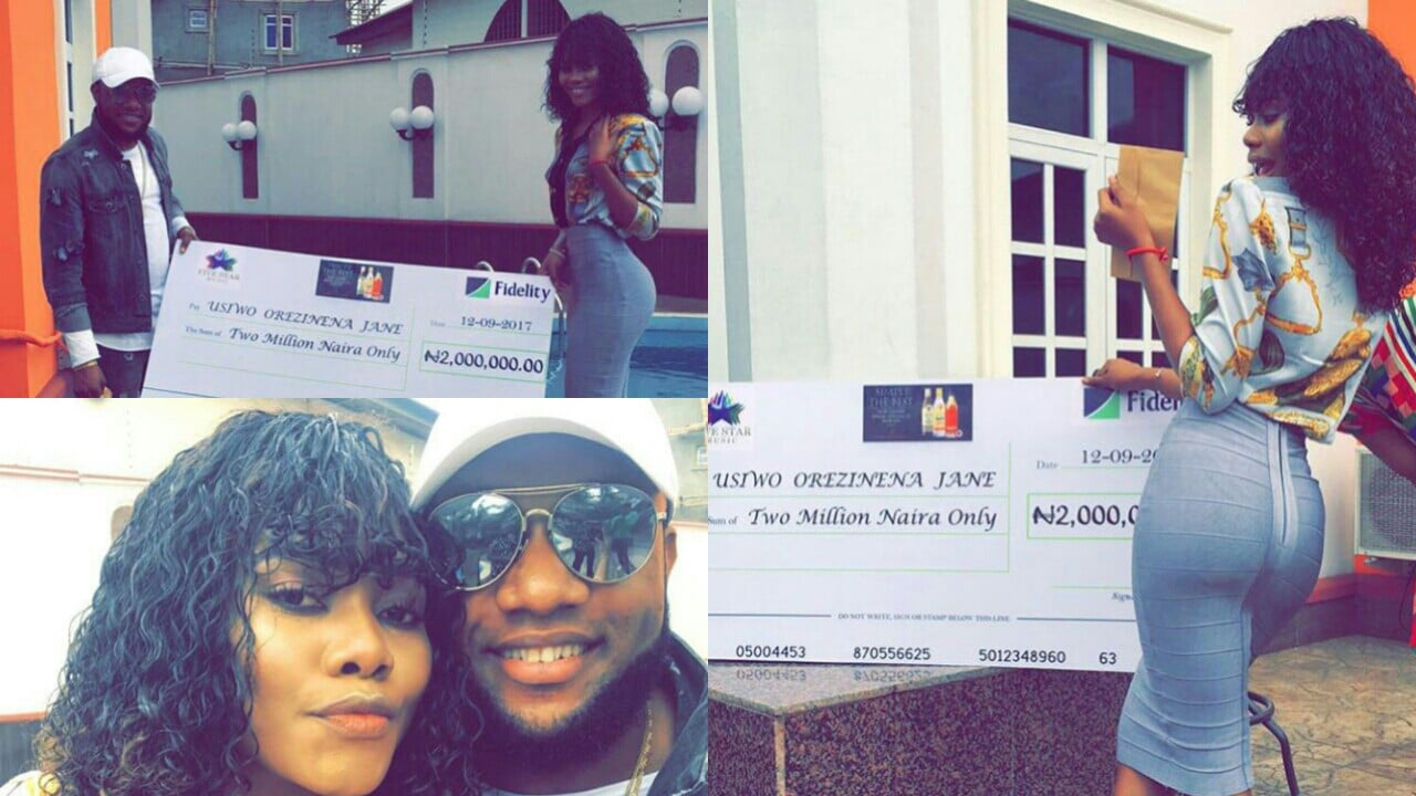 janemena win Kcee dance competition