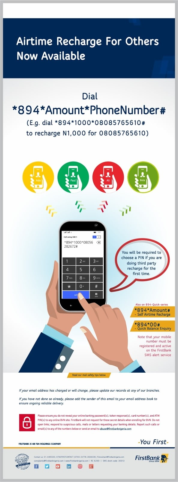 buy airtime on first bank