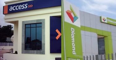 diamondaccess bank transfer code