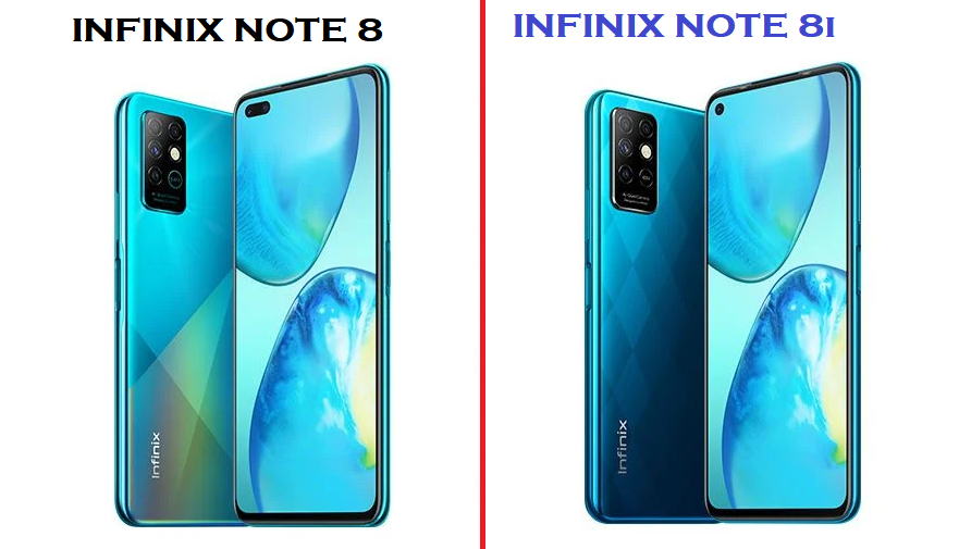 difference between infinix Note 8 and Note 8i